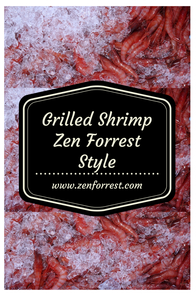 Zen Forrest housemade dressing doubles as a marinade for grilling shrimp