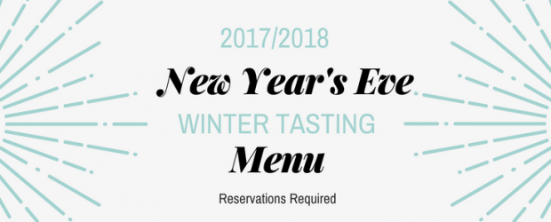 New Years Eve Winter Tasting Menu